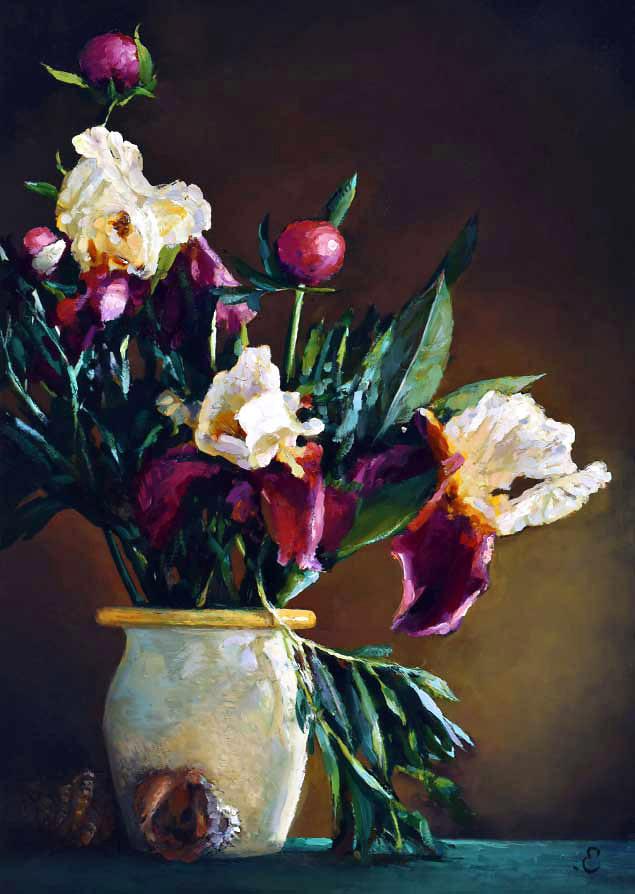 Картина Ирисы в вазе