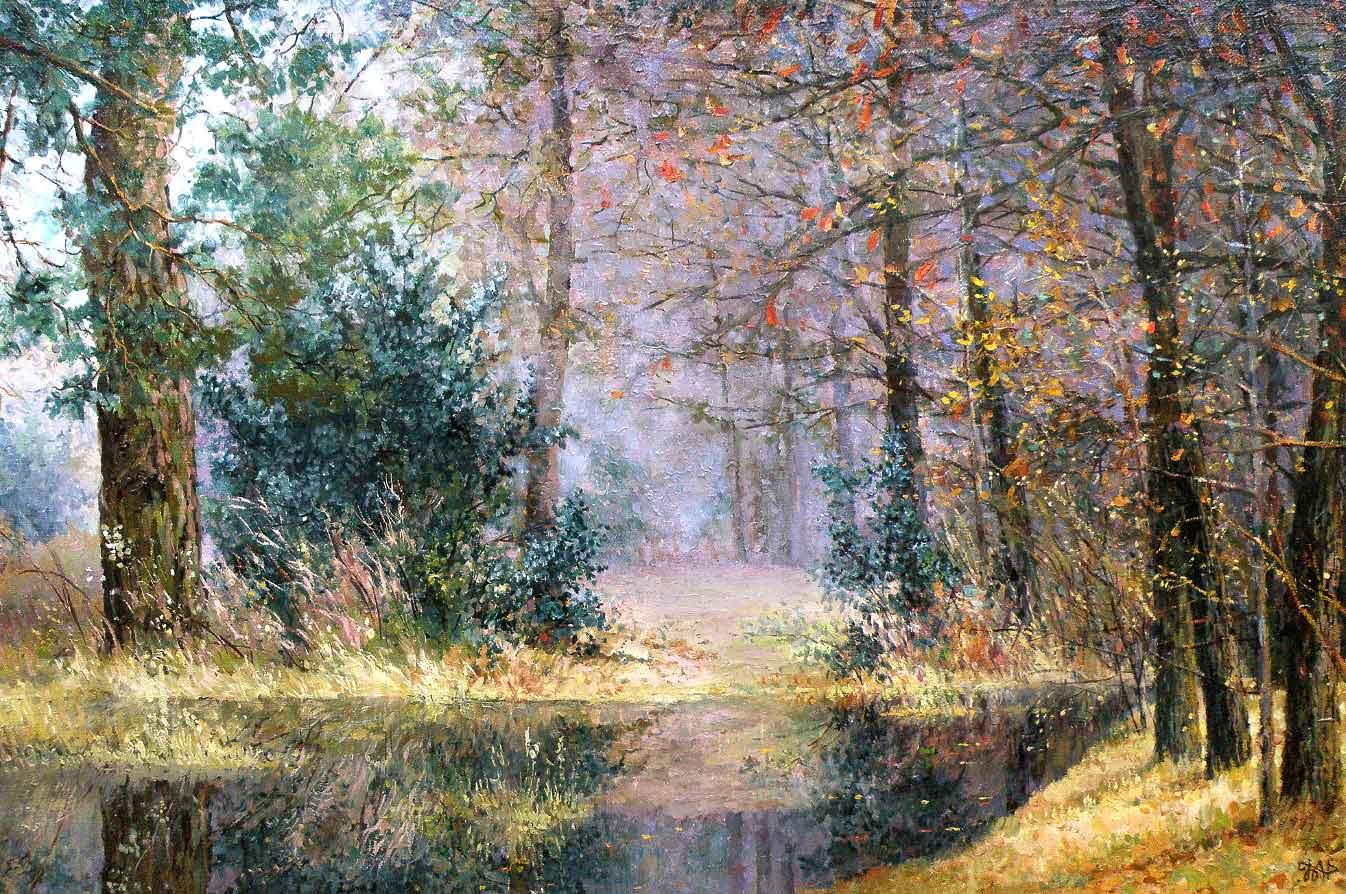 Картина пейзаж, лес