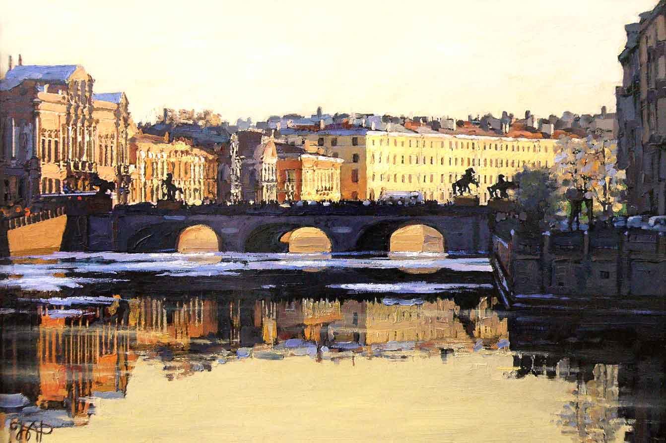 Картина Аничков мост