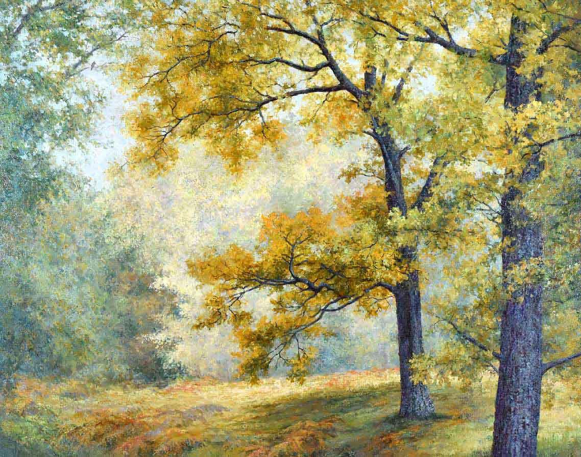 Картина Пейзаж дубы