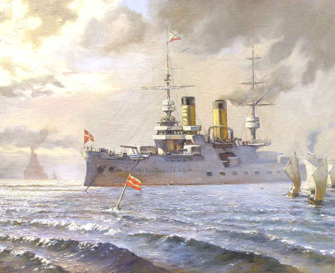 Картина военный корабль