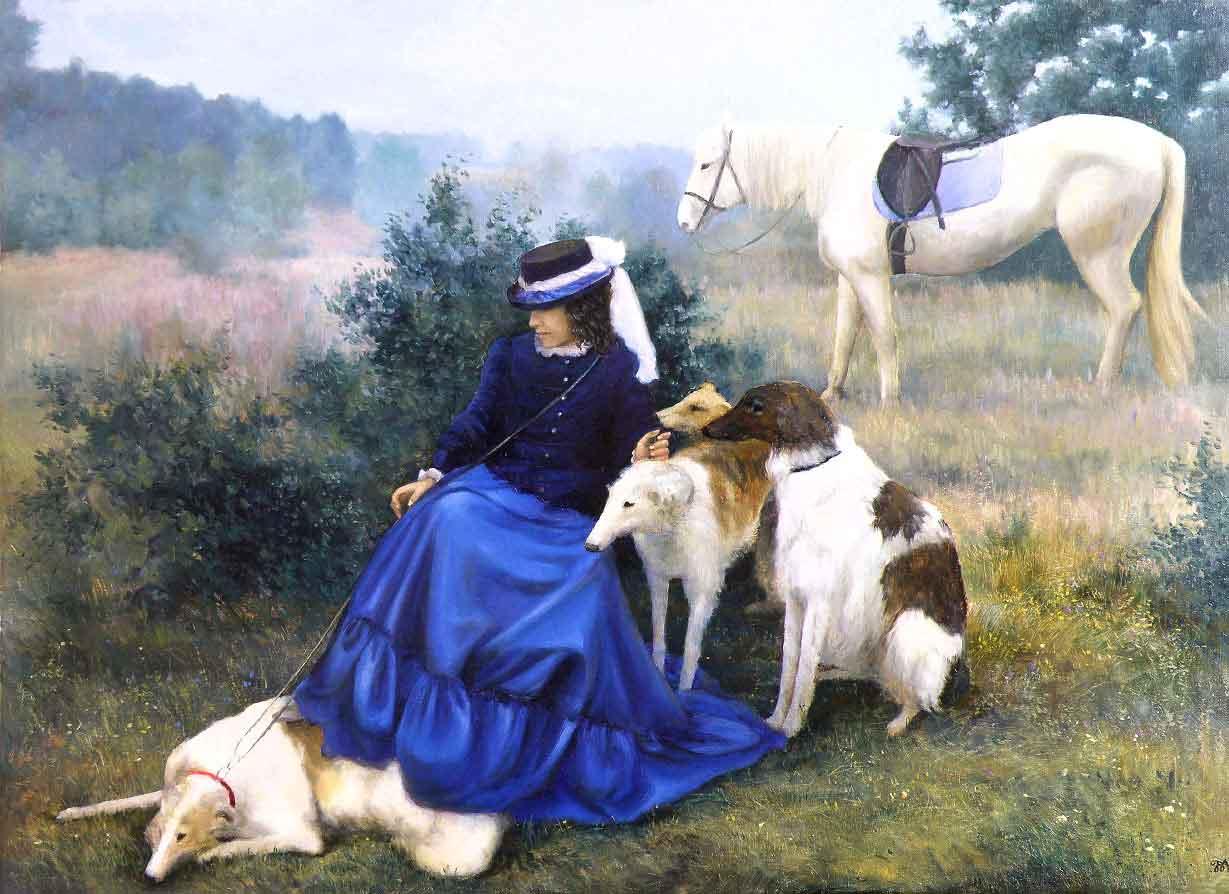 Картина сцена охоты