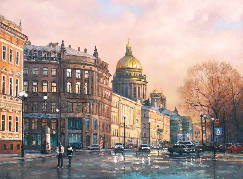 картина вид Санкт-Петербурга