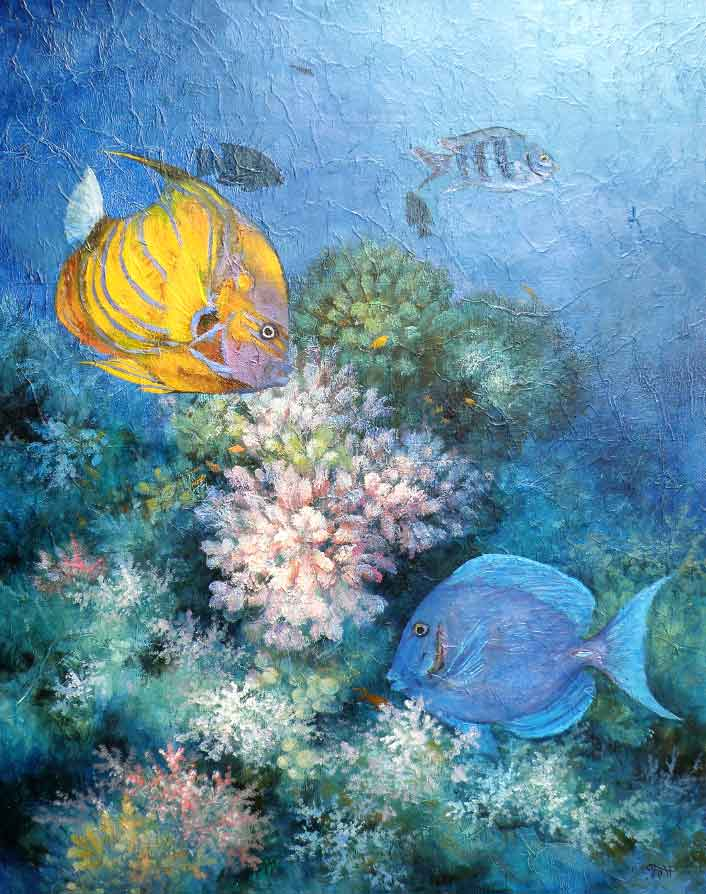 Картина с рыбками