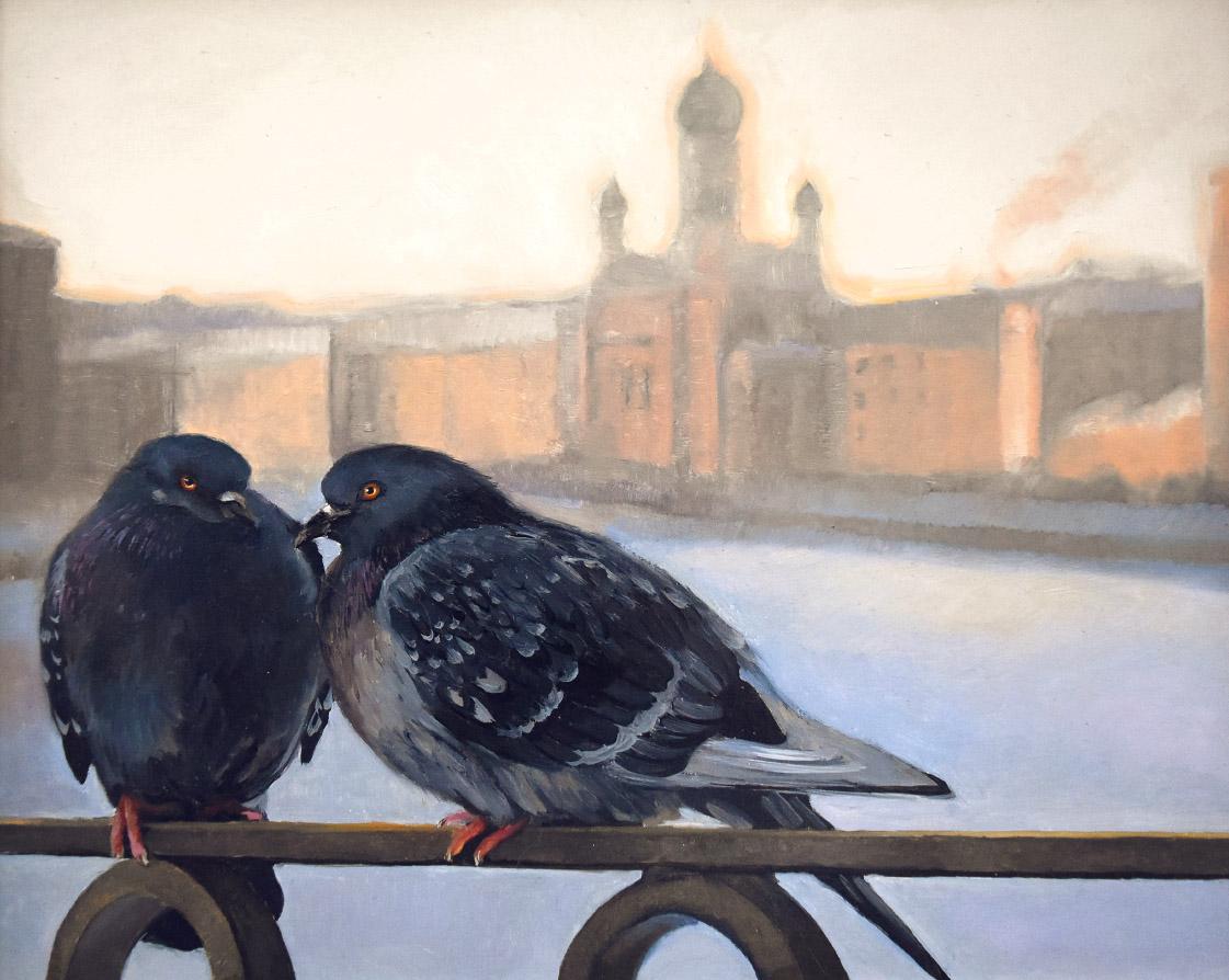 Картина голуби
