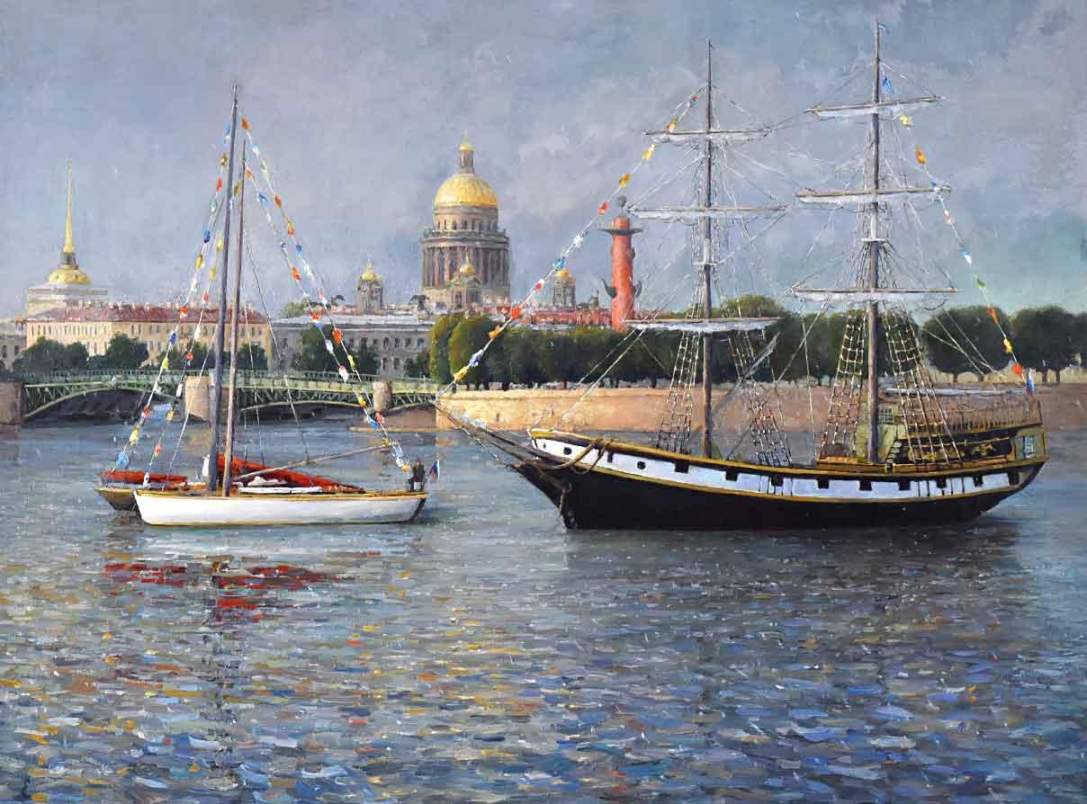 Вид Санкт-Петербурга картина