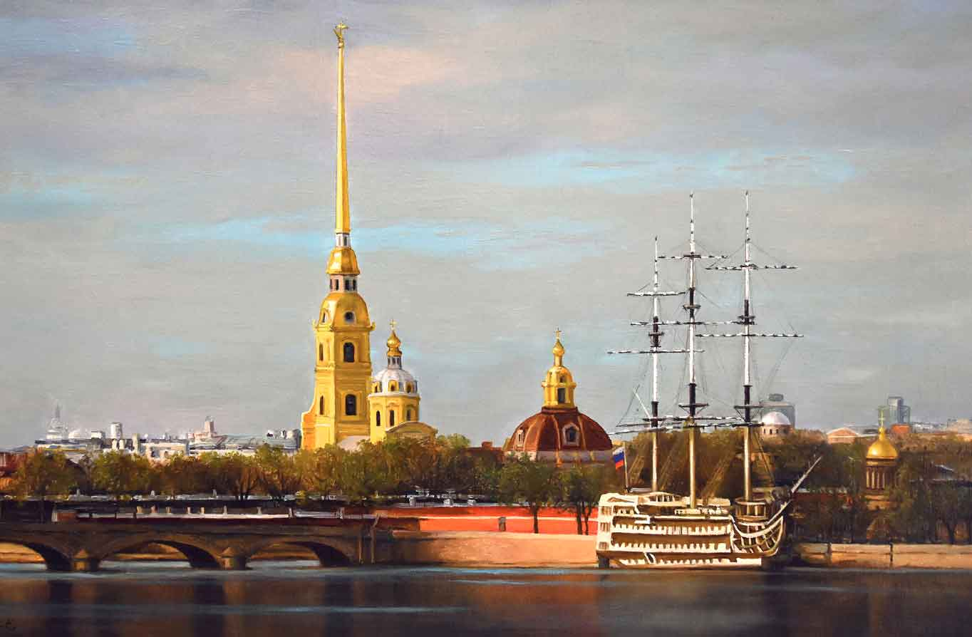Пертропавловская крепость картина