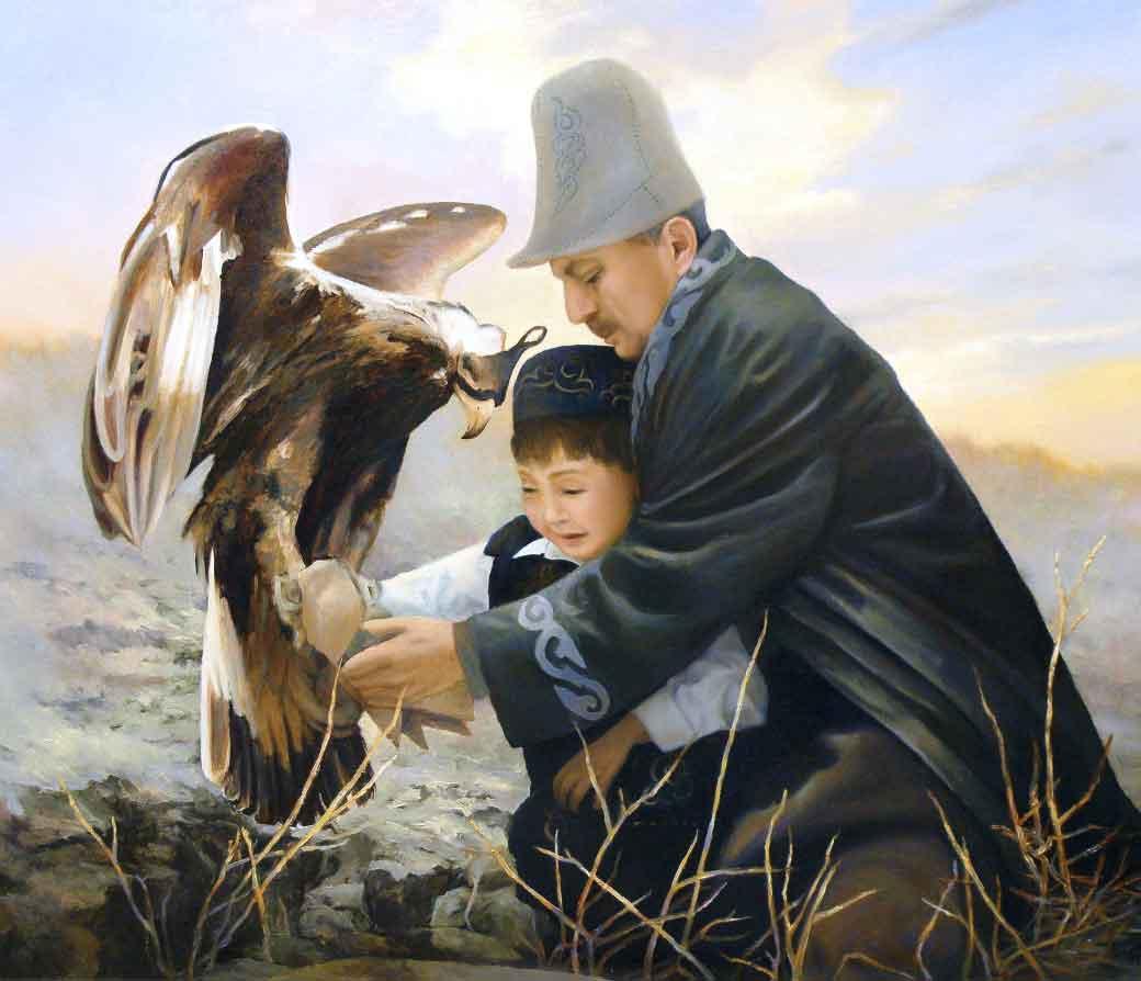 Портрет деда и внука